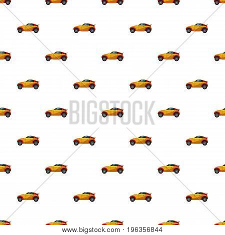 Sport car pattern seamless repeat in cartoon style vector illustration
