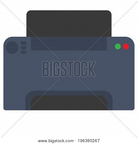 Office printer scanner vector illustration. Flat style design. Colorful graphics