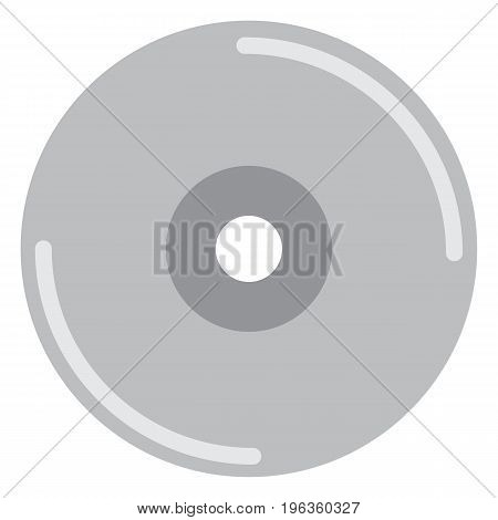 Compact disc vector illustration. Flat style design. Colorful graphics