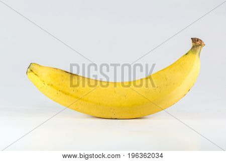 banana big yellow perfect isolated on white. good healthy food