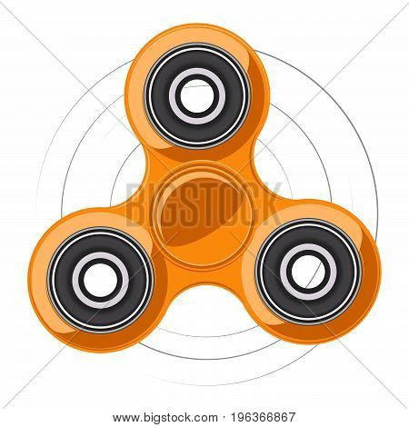 Fidget finger spinner stress, anxiety relief toy. Vector illustration.
