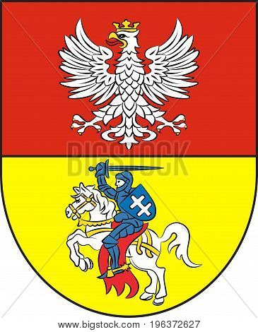 Coat of arms of Bialystok in Podlaskie Voivodeship in northeastern Poland. Vector illustration