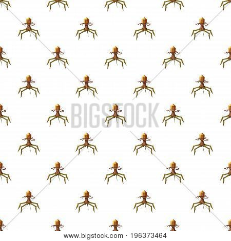 Parasite pattern seamless repeat in cartoon style vector illustration