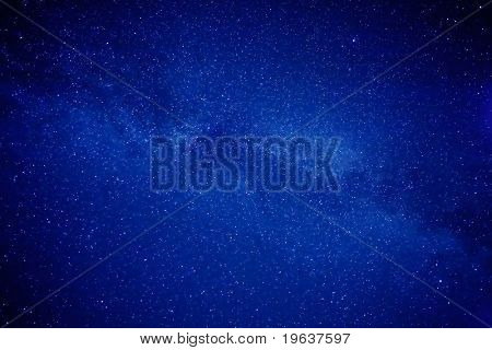 Sky of stars - space background - cluster of stars