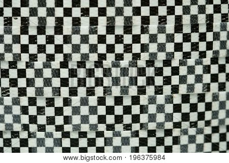 Black and white chess pattern, texture background