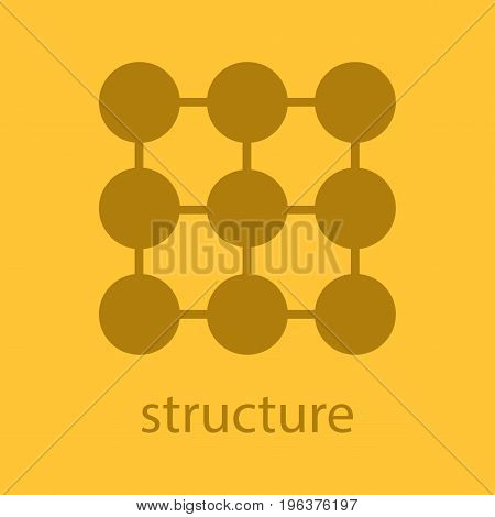 Structure glyph color icon. Silhouette symbol. Composition abstract metaphor. Negative space. Vector isolated illustration