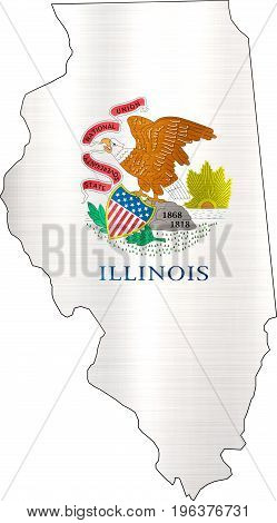 map flag illinois illustration  background state usa