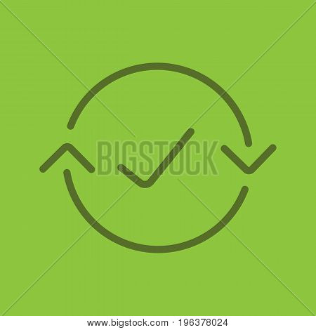 Money exchange complete color linear icon. Refund. Thin line outline symbols on color background. Vector illustration