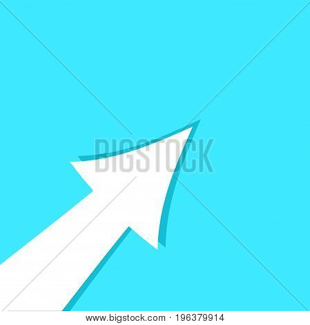 Banner arrow up template. Up vector illustration of up arrow growth poster