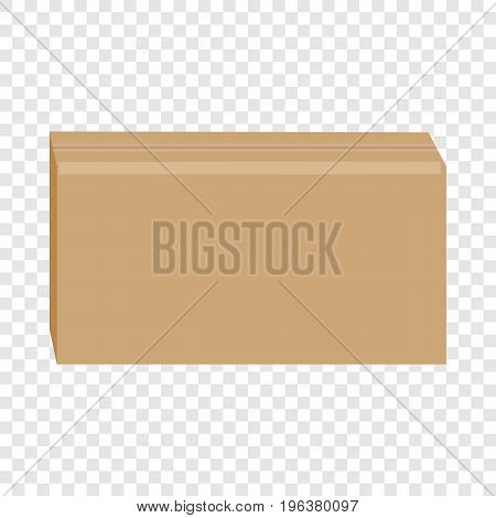 Sealed cardboard box mockup. Realistic illustration of sealed cardboard box vector mockup for web