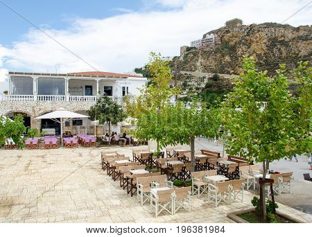 town square of Skyros island. Sporades islands . Greece