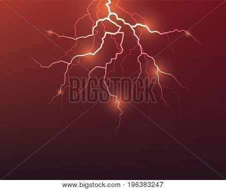 vector of lightning flash strike abstract background