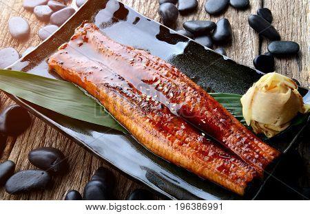 Japanese Eel Grilled Or Unagi Ibaraki.