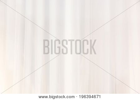 Close-Up Of White Curtain Or Drapes For Background Used For Montage Product Display Or Design Visual Layout Transparent White Curtain Waving On The Background Beautiful Horizontal Wallpaper With Copyspace