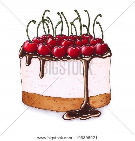 Cheesecake With Fresh Cherries