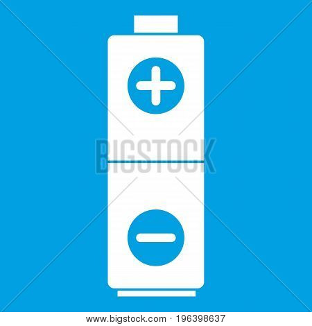 Battery in simple style isolated on white background vector illustration