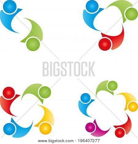 People logo collection, groups and team logo
