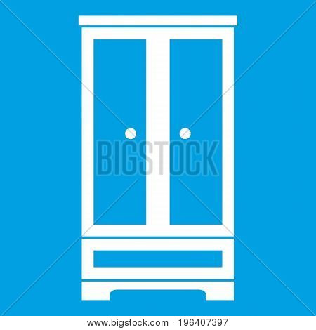 Wardrobe in simple style isolated on white background vector illustration
