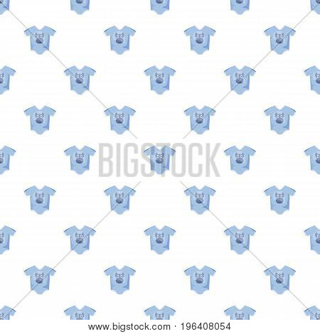 Infant bodysuit pattern seamless repeat in cartoon style vector illustration