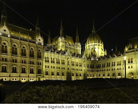 night scenery in Budapest the capital city of Hungary