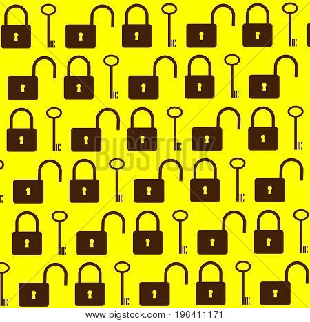 Key and lock vector pattern , background ,