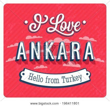 Vintage Greeting Card From Ankara - Turkey.