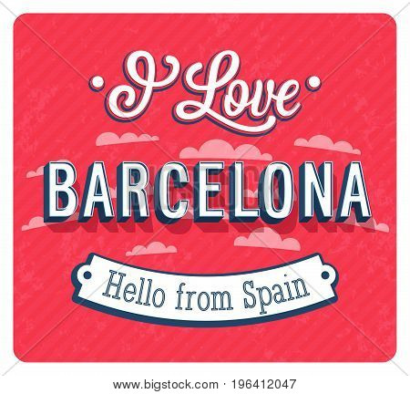 Vintage Greeting Card From Barcelona - Spain.