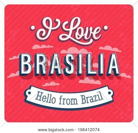 Vintage Greeting Card From Brasilia - Brazil.