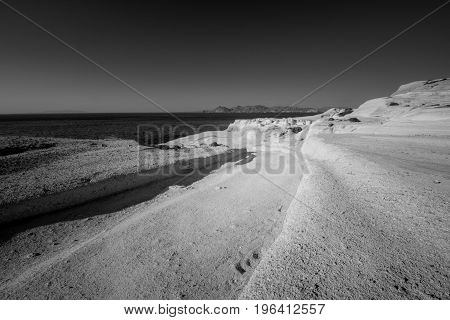 Sarakiniko Beach In Milos Island, Greece