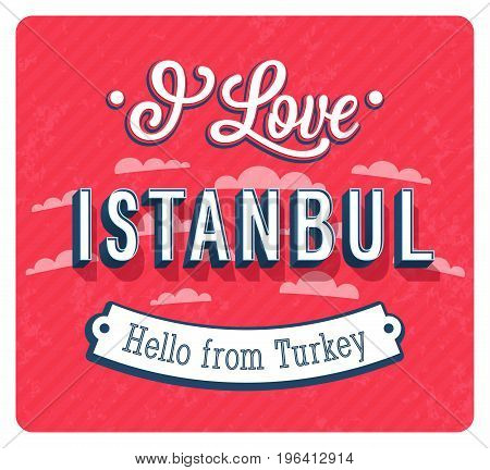 Vintage Greeting Card From Istanbul - Turkey.