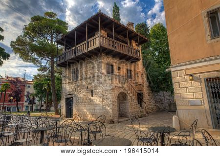 View of the Romanesque House in pore Istria. Croatia