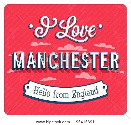 Vintage Greeting Card From Manchester - England.