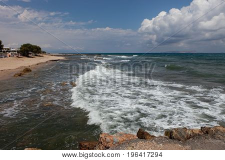 sea landscape Crete Analipsi, Greece. landscape, waterscape