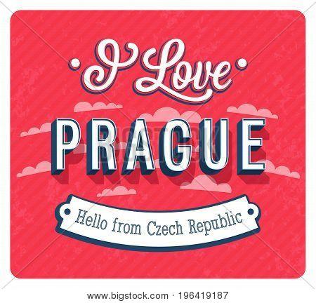 Vintage Greeting Card From Prague - Czech Republic.