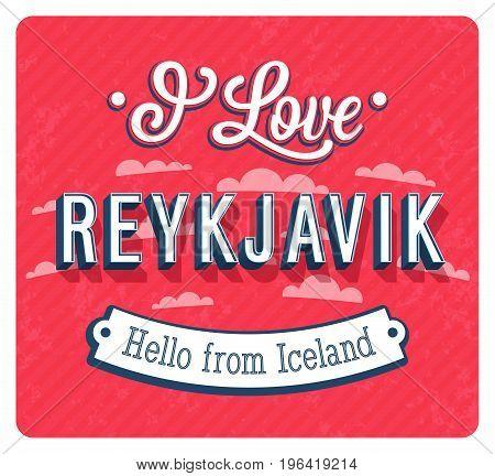 Vintage Greeting Card From Reykjavik - Iceland.