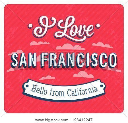 Vintage Greeting Card From San Francisco - California.