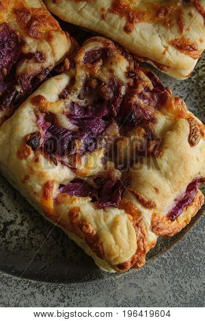 Red Onion And Mozarella Focaccia