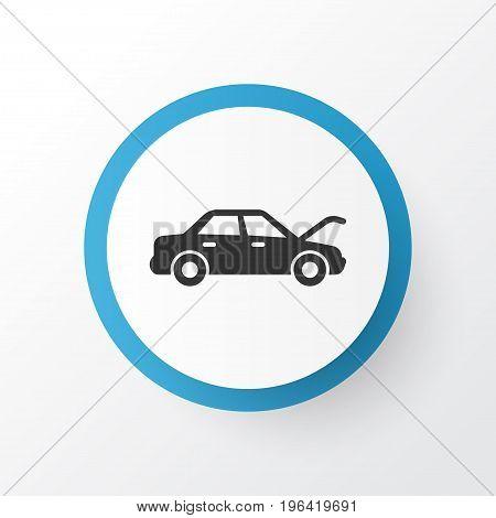 Premium Quality Isolated Fixing Element In Trendy Style. Auto Hood Icon Symbol.
