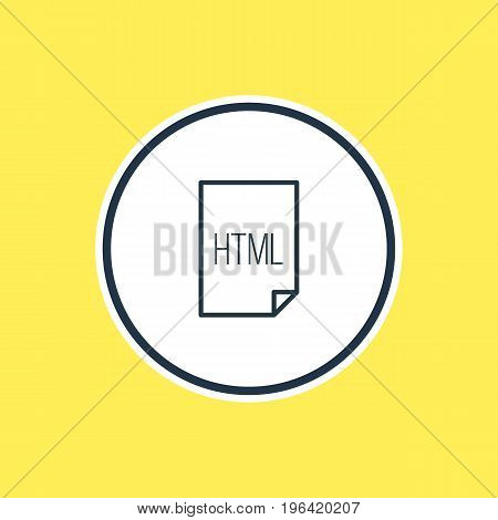 Vector Illustration Of HTML Outline. Beautiful Page Element Also Can Be Used As Code Element.