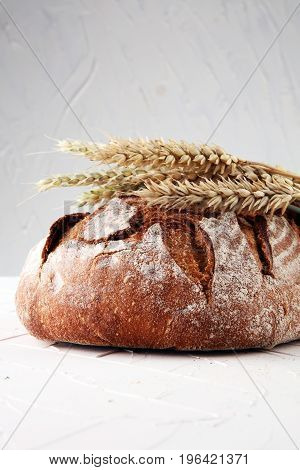 Bread Isolated On A White Background. Bakery Concept