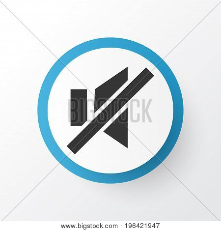 Sound Off Icon Symbol. Premium Quality Isolated Mute Element In Trendy Style.