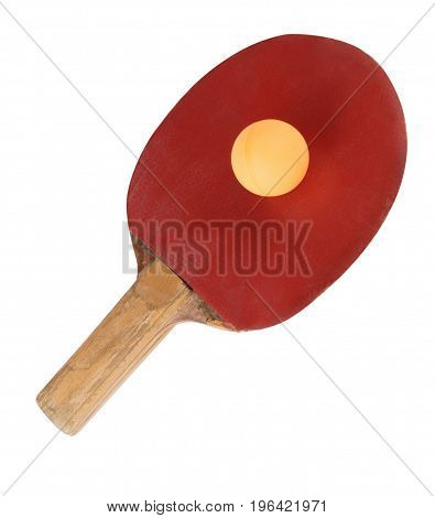 image of one table tennis bat isolated