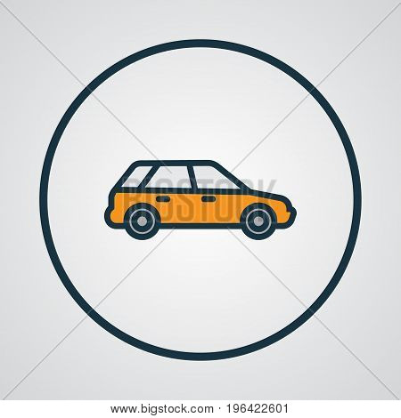 Station Wagon Colorful Outline Symbol. Premium Quality Isolated Machine  Element In Trendy Style.