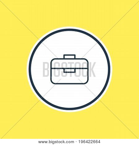 Vector Illustration Of Briefcase Outline. Beautiful Instruments Element Also Can Be Used As Portfolio  Element.