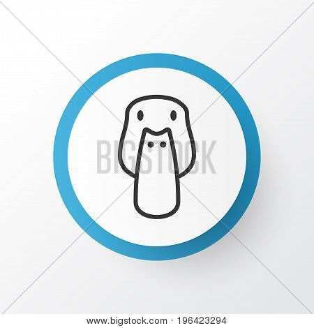 Mallard Icon Symbol. Premium Quality Isolated Duck Element In Trendy Style.