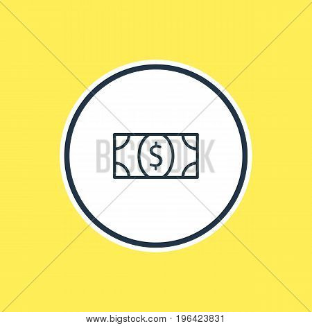 Beautiful Trading Element Also Can Be Used As Coins  Element. Vector Illustration Of Money Outline.