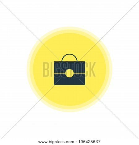 Beautiful Internet Element Also Can Be Used As Portfolio Element. Vector Illustration Of Briefcase Icon.