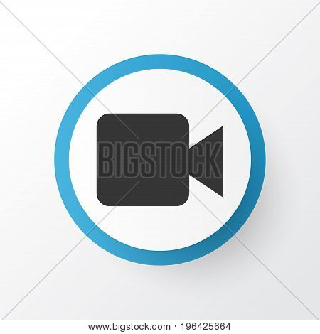 Premium Quality Isolated Camcorder Element In Trendy Style. Video Icon Symbol.