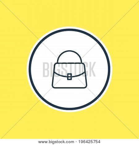 Beautiful Garment Element Also Can Be Used As Handbag Element. Vector Illustration Of Bag Outline.