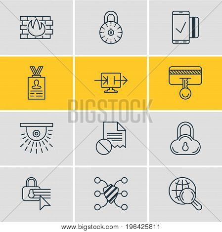 Editable Pack Of Easy Payment, Safeguard, Safe Lock And Other Elements. Vector Illustration Of 12 Security Icons.